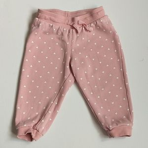 Pink Heart Baby Girl Sweatpants * Size 6-9…